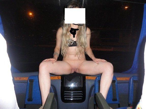 Exibicionismo pelada dentro do ônibus