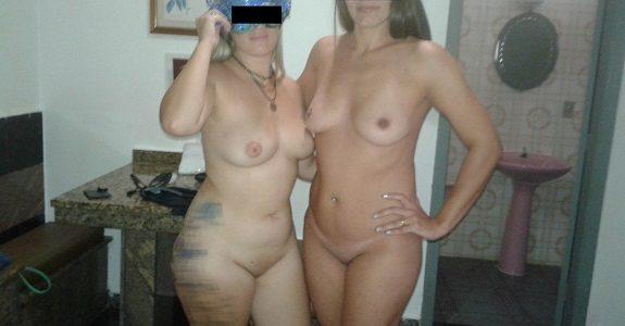 Raquel Exibida e sua amiga peladas no motel