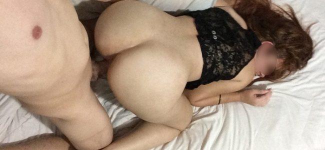 Esposa branquinha gostosa em fotos de sexo