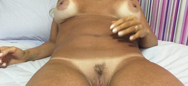 Fotos da loira gostosa mostrando o bucetão