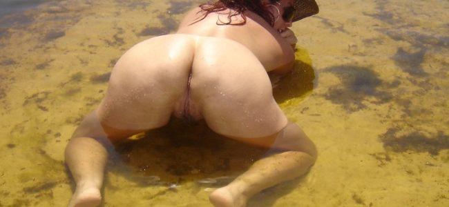 Fotos amadoras da esposa coroa nua na praia